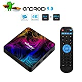 Winnovo Magic 5th Android TV Box - Android 9.0 Smart TV Boxes 4GB RAM 64GB ROM Quad Core Support 4K 3D WiFi Bluetooth 4.0 Ethernet HDMI