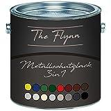The Flynn Metallschutzfarbe 3 in 1 hochwertiger 3-in-1 Metallschutzlack Lack für Metall Eisen Aluminium Zink Stahl Rostschutz Grundierung Deckanstrich in einem (2,5 L, Anthrazitgrau (RAL 7016))