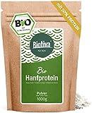 Hanfprotein Pulver 50% Bio (1kg) - 1000g Hanfproteinpulver - vegan - 50% Proteingehalt - Frei von Gluten, Soja und Laktose - Abgefüllt in Deutschland (DE-ÖKO-005)