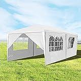 Hengda 3x6m Pavillon Partyzelt UV-Schutz Hochwertiges GartenPavillon Wasserdicht mit 6 Seitenteilen für Hochzeit Party Camping