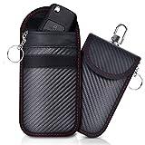 Lanpard 2 STK Mini Keyless Go Schutz Autoschlüssel,RFID Funkschlüssel Abschirmung Schlüsseltasche