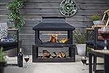 La Hacienda Stonehurst 58281 Kamin für den Außenbereich, Stahl, Bronze-Optik