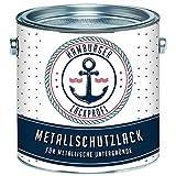 Metallschutzlack MATT Moosgrün RAL 6005 Grün Metallschutzfarbe Metalllack Metallfarbe // Hamburger Lack-Profi (1 L)