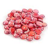 Glänzender, reflektierender Feuerglas-Kies, Feuersteine oder Perlen für Feuerstellen, Aquarien, Sukkulenten oder als Gartendekoration, 17-19 mm, 335 g. China Red