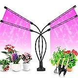 Pflanzenlampe LED, Pflanzenlicht, 40W Pflanzenleuchte, 4 Heads 80 LEDs Wachsen licht , Vollspektrum Wachstumslampe für Zimmerpflanzen mit Zeitschaltuhr, 3 Arten von Modus, 8 Arten von Helligkeit.