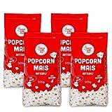 Popcorn Mais Butterfly 4 x 500g Kinopopcorn für Popcornmaschine Popcornloop Beste Gold Qualität Ohne Gentechnik Vegan Glutenfrei