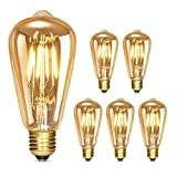 Albrillo Edison Vintage Glühbirne E27 - Dimmbar 4W 280 LM LED Filament Lampe, Ersazt 40W Halogenlampen, Warmweiß 2500K Antike Lampe Ideal für Nostalgie und Retro Beleuchtung im Haus Café Bar, 5er Pack