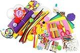 com-four® 1000-teiliges Bastel-Set - Bastelsachen für Kinder - Bastelkoffer für Mädchen und Jungen - Materialien für Hobby-Bastler