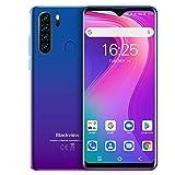 Blackview A80 Pro (2020) Smartphone, 6,49 Zoll Dot Drop Anzeige, 4GB RAM+64GB ROM, 4680mAh Akku, 13MP+8MP Kamera, Android, WLAN 5G, Fingerabdruck, Face ID, 4G Dual SIM Handy Ohne Vertrag-Mist Blau