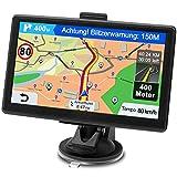GPS Navi Navigationsgerät für Auto, Navigation für Auto PKW LKW Navi 7 Zoll Kostenloses Kartenupdate mit Freisprecheinrichtung POI Blitzerwarnung Sprachführung Fahrspur, 2020 Europa UK 52 Karten
