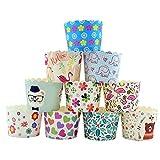 CANDeal 100 Stück Muffin Backformen aus stabilem Papier, groß Ø 5 cm, Muffinförmchen / Cupcake Backformen