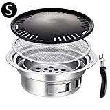 Ardentity Camping Grill Picknickgrill BBQ Grill, Holzkohlegrill Grillwagen Holzkohle Grill Standgrill Barbecue Kohlegrill für BBQ Party Garten Camping