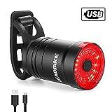 BestCool Fahrrad Rücklicht, USB-wiederaufladbare Fahrradrückleuchte mit hoher Intensität Wasserdicht 6 Modi Sicherheitswarnblitzleuchte Kompatibel mit Bergen, Straßen und Stadträdern