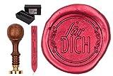 gravurART Siegelset Sigillum Gravur 'Für Dich' Siegel-Stempel mit Siegelwachs im Geschenkkarton