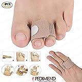 PEDIMEND Hammerzehen-Geradehalter – Zehentrenner – gebrochene Zehen-Bandagen – Zehen-Valgus-Bandage – reduziert das Risiko von Verletzungen und Verformungen – Fußpflege (4 Stück)