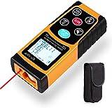 Laser Entfernungsmesser mit Integrierte 100M Digital Wasserwaage Bequemer und Genauer LCD Display für Entfernungsmessung Messbreich 0,05~100m/±1.5mm