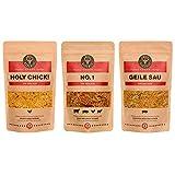 BBQ-Rub Gewürzmischung 3er-Pack/Spitzenqualität von Grill Republic: No.1, Geile Sau & Holy Chick/Premium Gewürz für alle Sorten von Fleisch/für Smoker, Grill, Ofen und Pfanne/Ideal als Geschenk