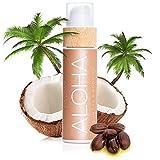 COCOSOLIS Aloha Bräunungsbeschleuniger mit Vitamin E, Kakaobutter - Bräunungscreme & Bodylotion Kakao - Bio-Bräunungsöl mit 6 Kostbare Öle - 110 ml