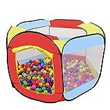 MAIKEHIGH Bällebad Spielzelt für Kinder, 6-seitig Faltbare Bällebad Babyspielplatz Zelt tragbare Sechseck Pop-Up Ball Pool für Kleinkinder Indoor/Outdoor-Spielhaus (Bälle Nicht Inbegriffen)