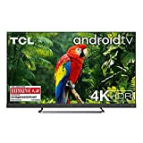 TCL 55EC780 Fernseher 139 cm (55 Zoll) Smart TV 4K UHD (Android TV,4K HDR Pro, HDR 10+, Netflix 4K, ONKYO Soundbar, Prime Video, Works with Alexa) Brushed Titanium