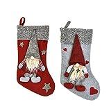 MRULIC WeihnachtsstrüMpfe Socken Zum BefüLlen Und AufhäNgen Nikolaus Stiefel Weihnachten Kamin Strumpf Deko Socke Weihnachtsbaum Deko(A6)