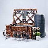 Arkmiido Retro Classic Picknickkörbe für 4 Personen Bringen Meiner Familie eine Wundervolle Picknick Wochenendzeit