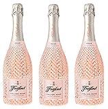 Freixenet Italian Rosé Prosecco, Extra Trocken, 11 Prozent Alkohol (3 x 0,75 l Flaschen) – Feinstes Aroma dank der Rebsorten Glera und Pinot Noir