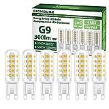 G9 Led Warmweiss (3000K), 3W 300 Lumen Led Lampe Ersatz für 30W Halogenlampen, 360° Abstrahlwinkel, Nicht Dimmable, 6 Stück