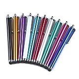 Yizhet 10x universal Stylus Stift Touch Pen Eingabestift mit Clip Design für iPhone iPad Samsung Galaxy und alle Smartphone Handy Tablet mit kapazitiven Touchscreen