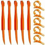 Senhai Orange Citrus Peelers, Set von 10 Kunststoff Frucht Zitrone Hautentferner Slicer