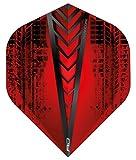 RED DRAGON Hardcore Radical Rot Extra Dicke Standard Dart Flights - 4 Sätze pro Packung (12 Flights insgesamt)