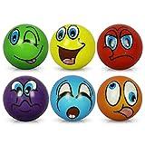 HC-Handel 6 x Stressball Streßball Knautschball Antistressball lustige Gesichter Softball Sortiert 6 cm