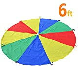 Sonyabecca 1.8m Schwungtuch für Kinder und Familie - Bunt Fallschirm Parachutes Spielzeug
