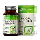 RS Bacopa Monnieri Kapseln 500 mg | 120 Vegane Kapseln| Für Lernen & Gedächtnis | Gentechnikfrei, frei von Gluten & Milch | Hergestellt in ISO-zertifizierten Betrieben in Großbritannien