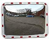 Verkehrsspiegel rechteckig 60 x 80 cm Straße Überwachungsspiegel Sicherheitsspiegel Konvexspiegel außen und innen Weitwinkeleffekt LABT