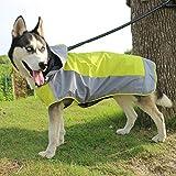 VICTORIE Hund Regenmantel Schneejacke Regensjacke Warm Poncho Herbst/Winter Wasserdicht Winddicht Reflektierende für große mittlere Hund Grün L