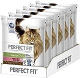 Perfect Fit Senior 7+ – Trockenfutter für Senioren Katzen ab 7 Jahren – Reich an Rind – Unterstützt die Gesundheit – 6 x 750 g