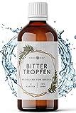 Bitterstoffe Tropfen mit praktischem Dropper-Verschluss | 100ml Bittertropfen nach Hildegard von Bingen | 15 Bitterkräuter