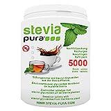 steviapura   Stevia Tabs Sparpackung - 5000 Stück Stevia Tabletten + GRATIS Dosierspender - 300g