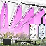 TENROOP Pflanzenlampe LED, 144 LEDs Pflanzenlicht Vollspektrum, 72W 4 Heads Pflanzenleuchte, LED Grow Lampe mit 10 Lichtstärken, 3 Modus Wachstumslampe für Gartenarbeit Zimmerpflanzen