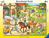 Ravensburger Kinderpuzzle 06164 - Auf dem Pferdehof - Rahmenpuzzle