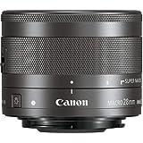 Canon Objektiv EF-M 28mm F3.5 Macro IS STM für EOS M (Festbrennweite, 43mm Filtergewinde, Hybrid IS) schwarz