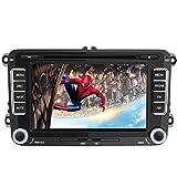 AWESAFE Autoradio mit Navi für Volkswagen Seat und Skoda, 2 Din Radio mit 7 Zoll Touchscreen Monitor, unterstützt Lenkradsteuerung Mirrorlink Bluetooth CD DVD