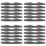 Artibetter Nasen Brücken Pads Gedächtnis Schaum Antibeschlag Selbstklebend Nasenbrückenpolster Nasenbrückenstreifen Schwammstreifen für Gesichtsmundabdeckung 24 Stück