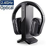 Avantree HT280 Funkkopfhörer Kabellose Kopfhörer zum Fernsehen mit 2,4G RF Transmitter Ladedock, Headset mit hoher Lautstärke, ideal für Senioren & Hörgeschädigte, Plug & Play, 30m HOHE REICHWEITE