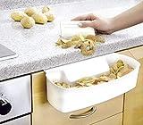 Wenko Auffangschale, für Küchenabfälle, inklusive Schaber, 32,5 x 9 x 17,5 cm, weiß