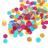 Huture Mehrfarbig Runde Punkte Konfetti Tisch Kreis Confetti Metallisch Folie Sterne Pailletten Glitzerndes Folie Papier Konfetti für Hochzeit Valentinstag Geburtstag Deko - 30 Gramm/ 1Unze