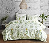 Bettwäsche Set Blumen Botanisch Pflanze Muster Drucken Polyester-Baumwolle 1 Bettbezug 135x200 mit 1 Kopfkissenbezug 80x80 ohne Füllung