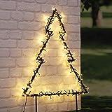 HI LED Gartenstecker Tannenbaum mit 175 warmweißen LEDs Weihnachtsbaum Christbaum Außenbereich Außenbeleuchtung Lichterkette LED-Lichter Außendekoration Lichterdeko Gartendekoration
