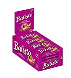 Balisto Schokoriegel | Joghurt-Beeren-Mix, lila | 20 Riegel in einer Box (20 x 37 g)
